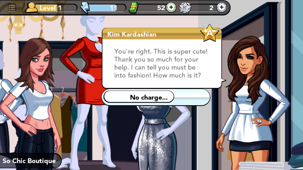 Kim Kardashian game: My avatar shoplifting for Kim Kardashian's avatar